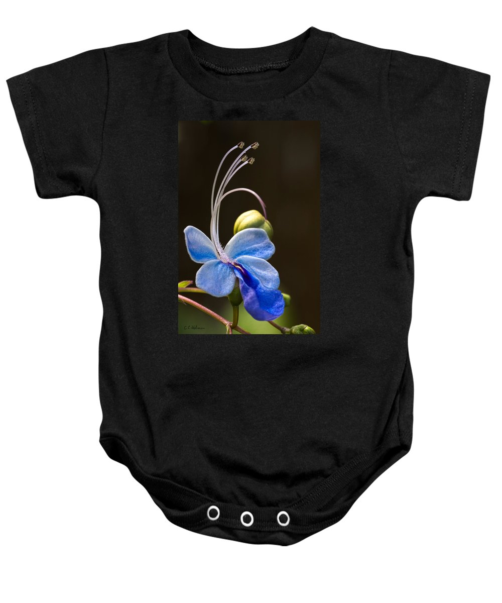 Flower Baby Onesie featuring the photograph Blooming Butterfly by Christopher Holmes