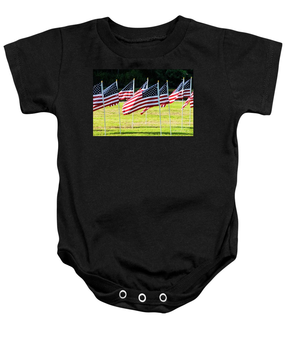 Georgetown Baby Onesie featuring the photograph Blowing In The Wind One by Bob Phillips