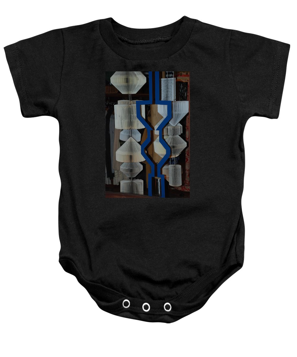Window Baby Onesie featuring the photograph Blue And White by Rob Hans