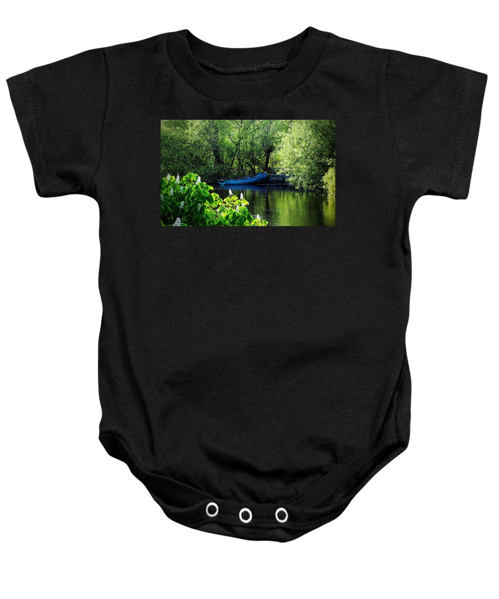 Irish Baby Onesie featuring the photograph Blue Boat Cong Ireland by Teresa Mucha