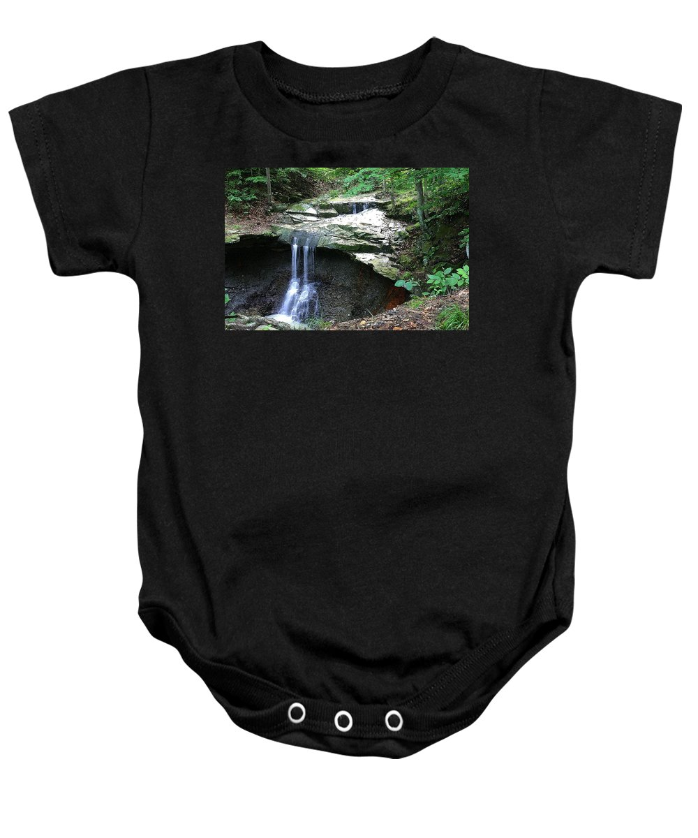 Waterfall. Water Baby Onesie featuring the photograph Blue Hen Falls by Nelson Strong