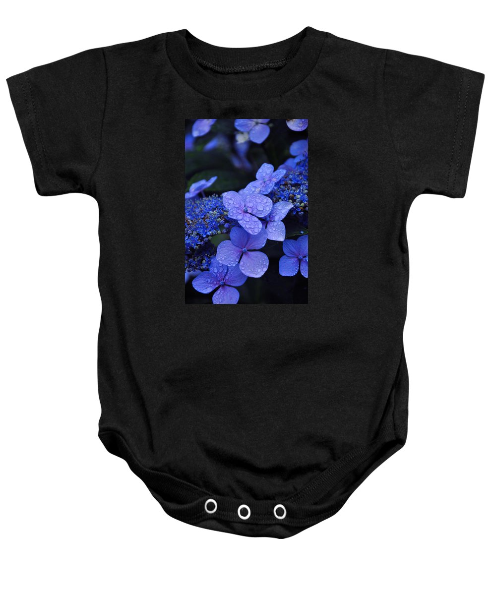 Flowers Baby Onesie featuring the photograph Blue Hydrangea by Noah Cole