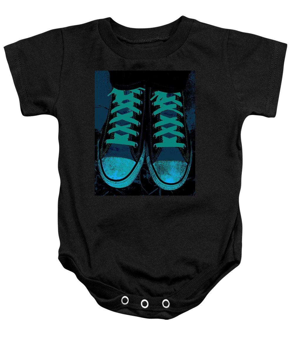 Blue Jean Blues Baby Onesie featuring the photograph Blue Jean Blues by Ed Smith