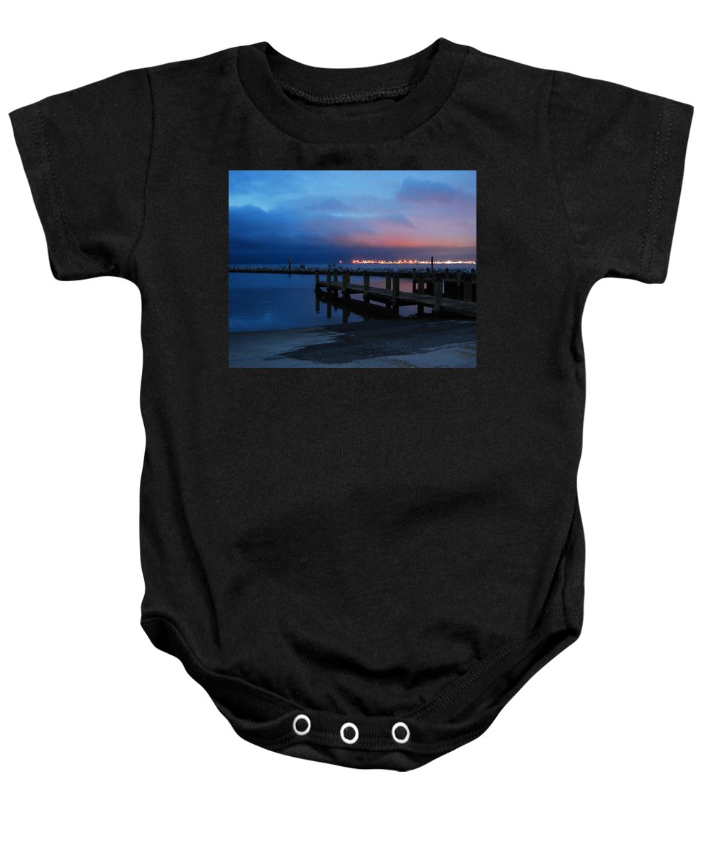 Blue Baby Onesie featuring the photograph Blue Morning by Beth Gates-Sully