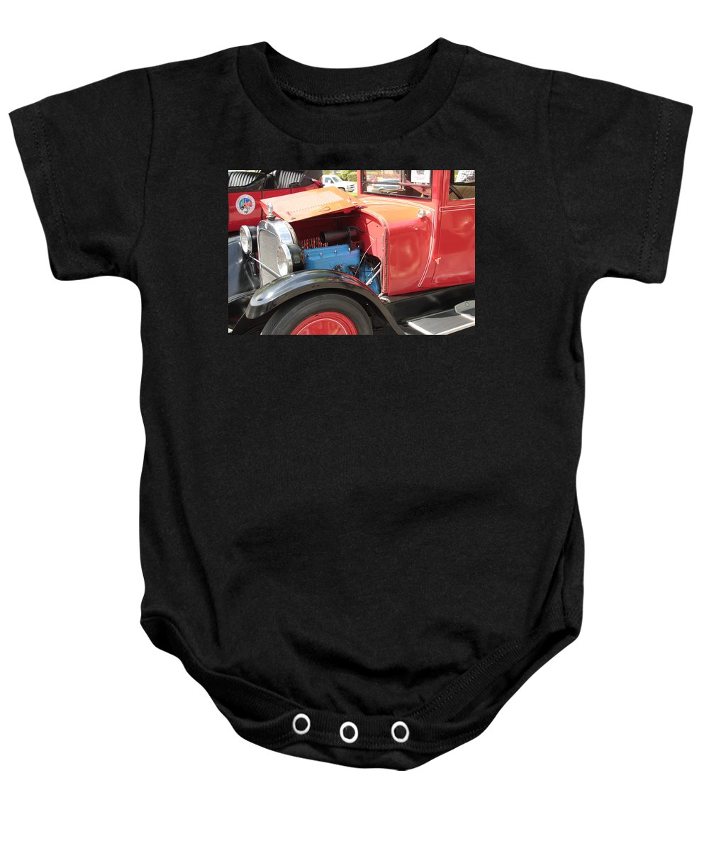 Antique Baby Onesie featuring the photograph Blue Motor by Pauline Darrow