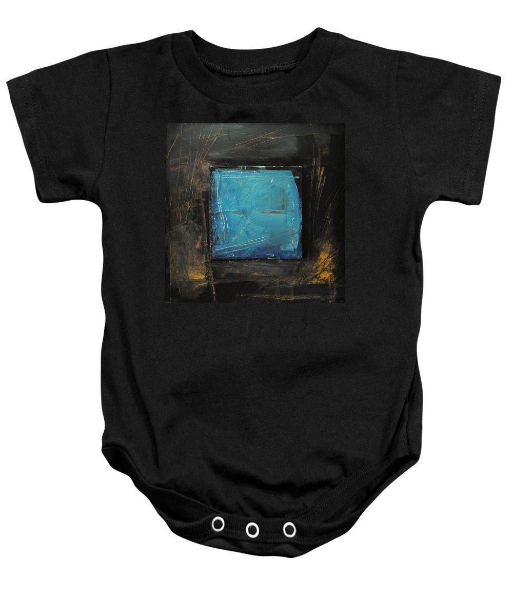 Blue Baby Onesie featuring the painting Blue Square by Tim Nyberg