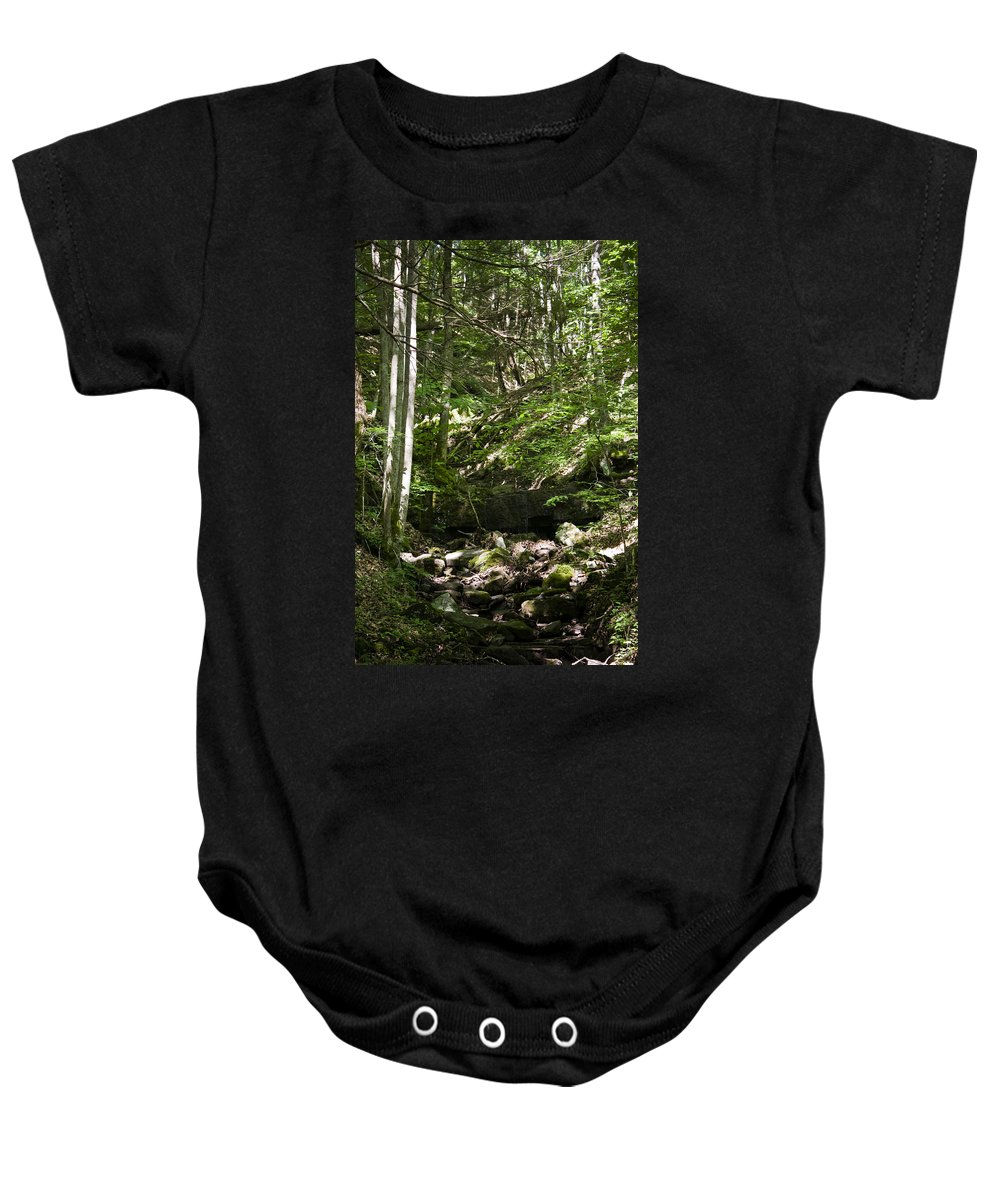 Bluestone Baby Onesie featuring the photograph Bluestone State Park Mountain Stream West Virginia by Teresa Mucha