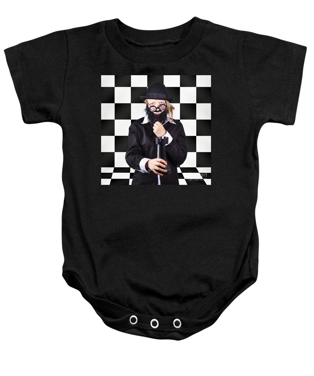 Adult Baby Onesie featuring the photograph Board Member With Tactical Strategy Game Plan by Jorgo Photography - Wall Art Gallery