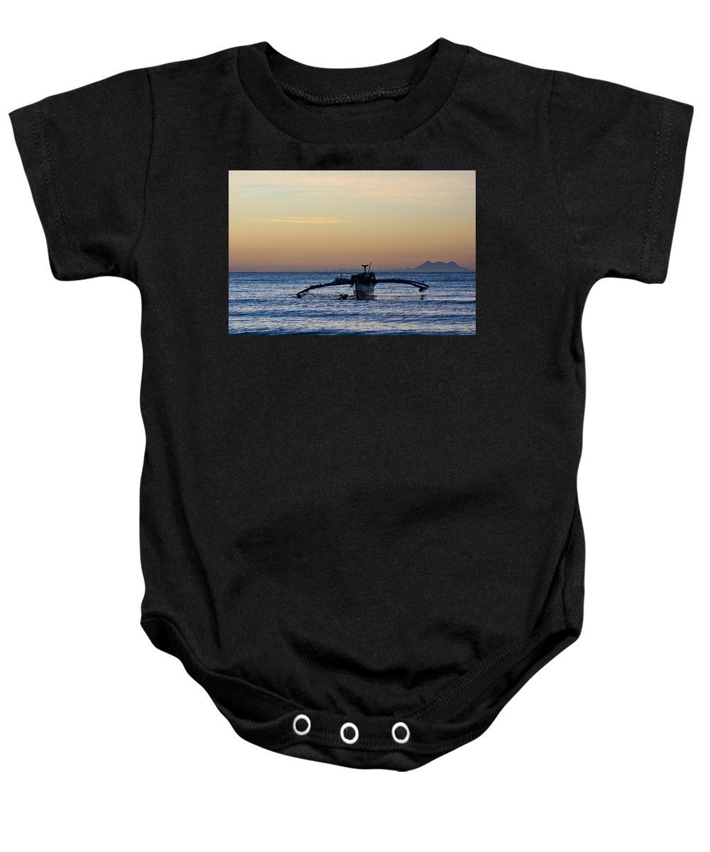 Seascape Baby Onesie featuring the photograph Boat by George Cabig