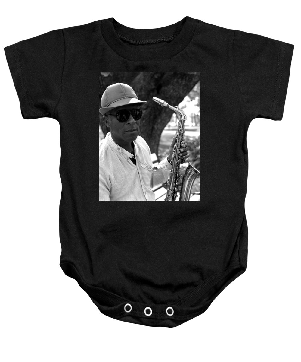 Portrait Baby Onesie featuring the photograph Bob by Lee Santa