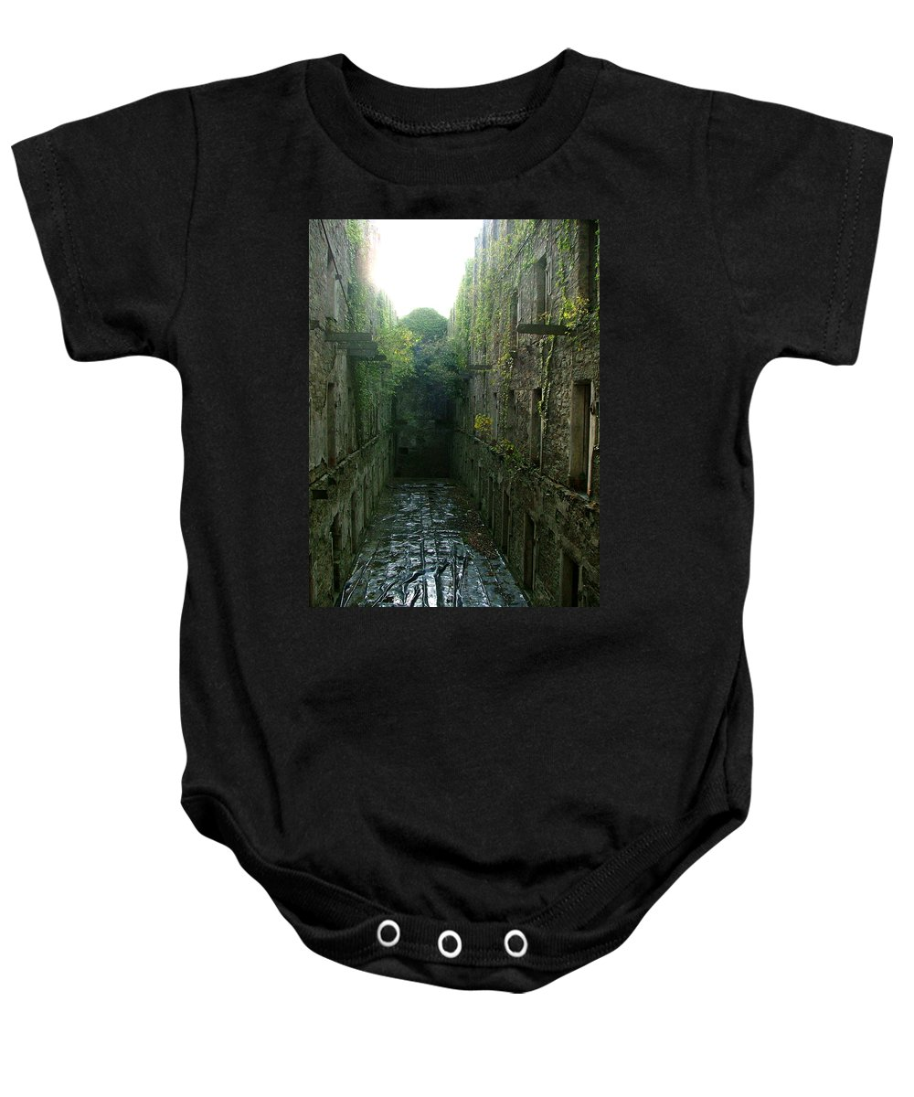 Bodmin Baby Onesie featuring the photograph Bodmin Gaol by Heather Lennox
