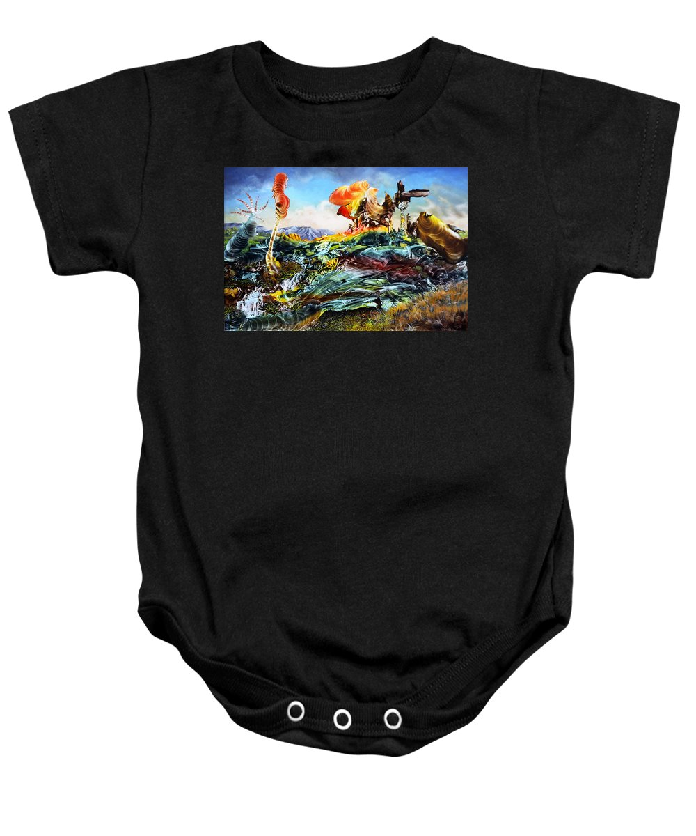 Landscape Baby Onesie featuring the painting Bogomil Landscape by Otto Rapp