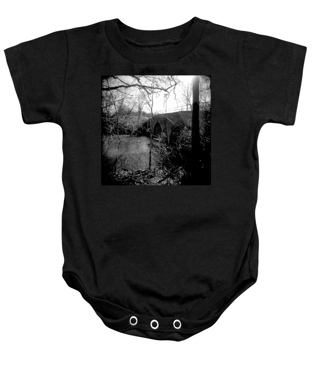 Photograph Baby Onesie featuring the photograph Boiling Springs Bridge by Jean Macaluso