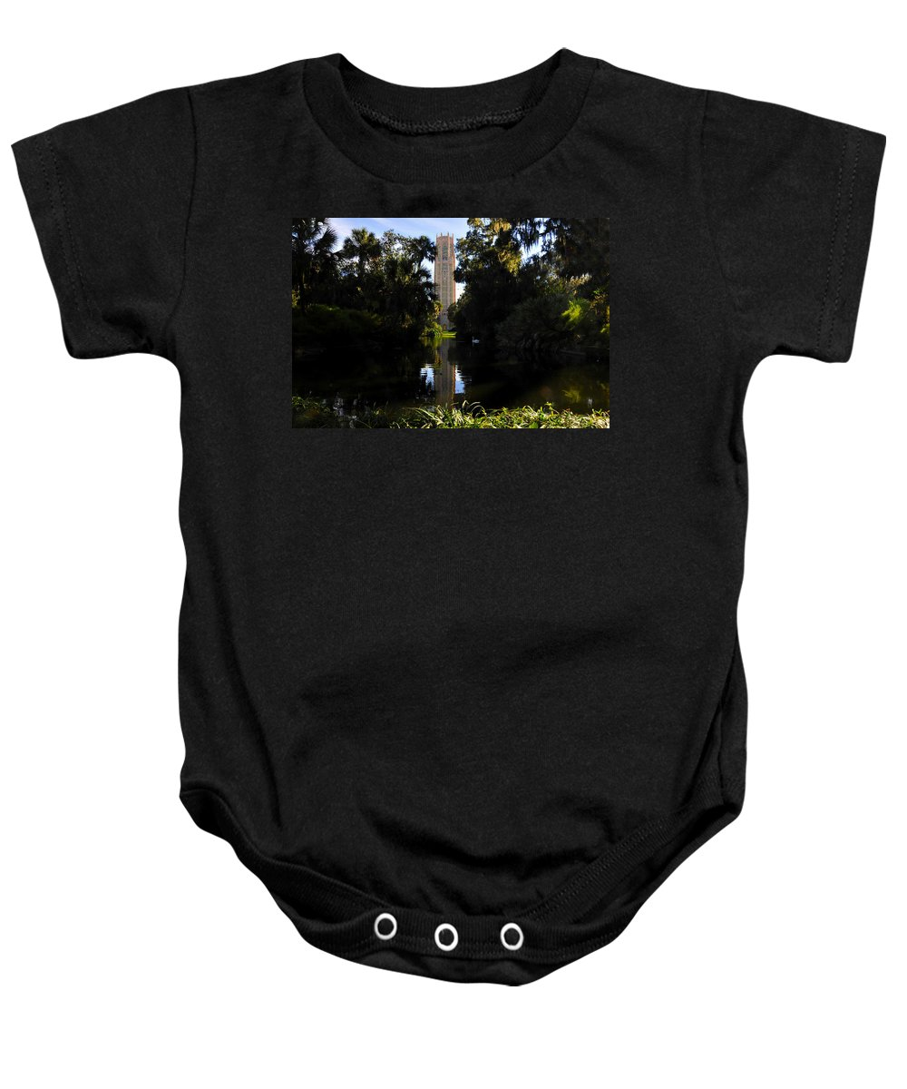 Bok Tower Gardens Florida Baby Onesie featuring the photograph Bok Tower Gardens by David Lee Thompson