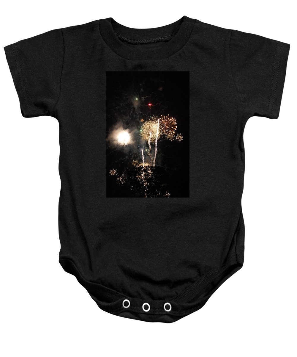 Firwworks Baby Onesie featuring the photograph Bombs1 by David Lane