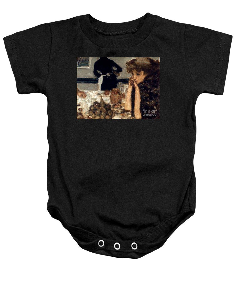 1899 Baby Onesie featuring the photograph Bonnard: Breakfast, C1899 by Granger