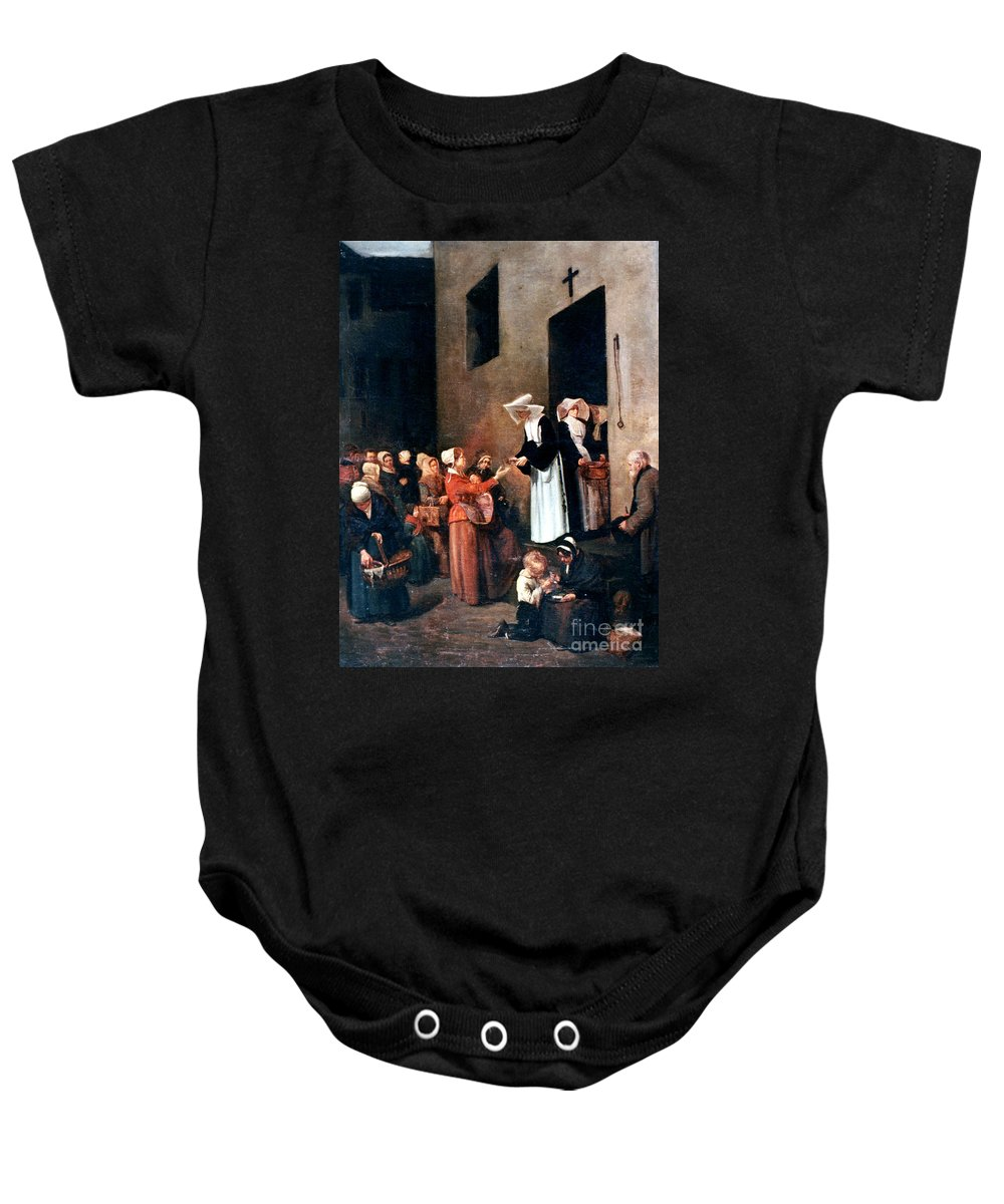 19th Century Baby Onesie featuring the photograph Bonvin: Charity, 1851 by Granger