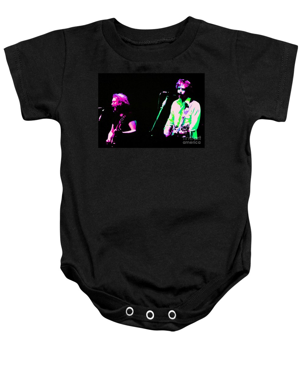 Music Baby Onesie featuring the photograph Grateful Dead - Born Cross Eyed by Susan Carella