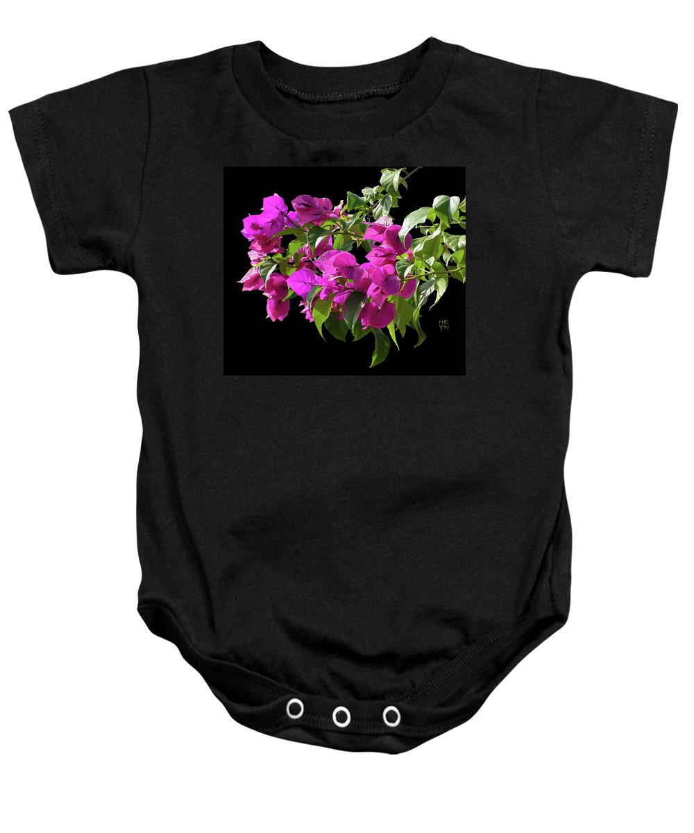 Cutout Baby Onesie featuring the photograph Bougainvillea Cutout by Shirley Heyn