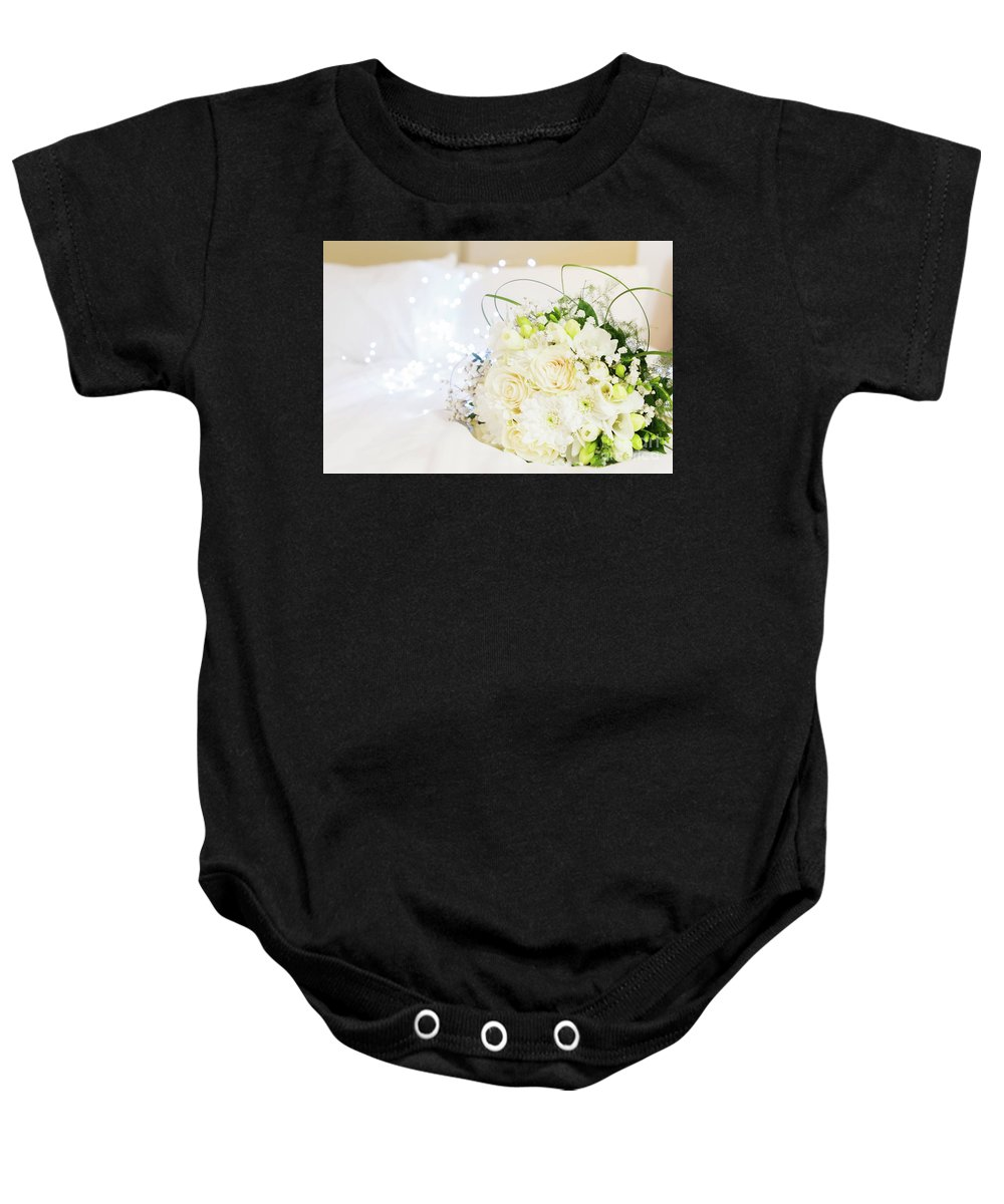 Roses Baby Onesie featuring the photograph Romantic Night by Anastasy Yarmolovich