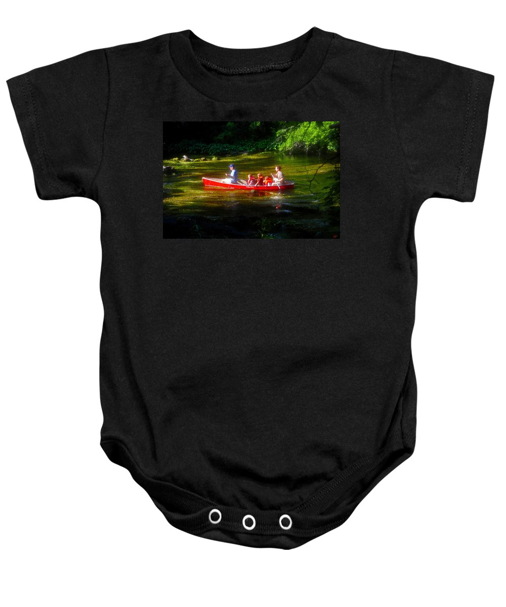Boys Baby Onesie featuring the painting Boy's Day Out by David Lee Thompson