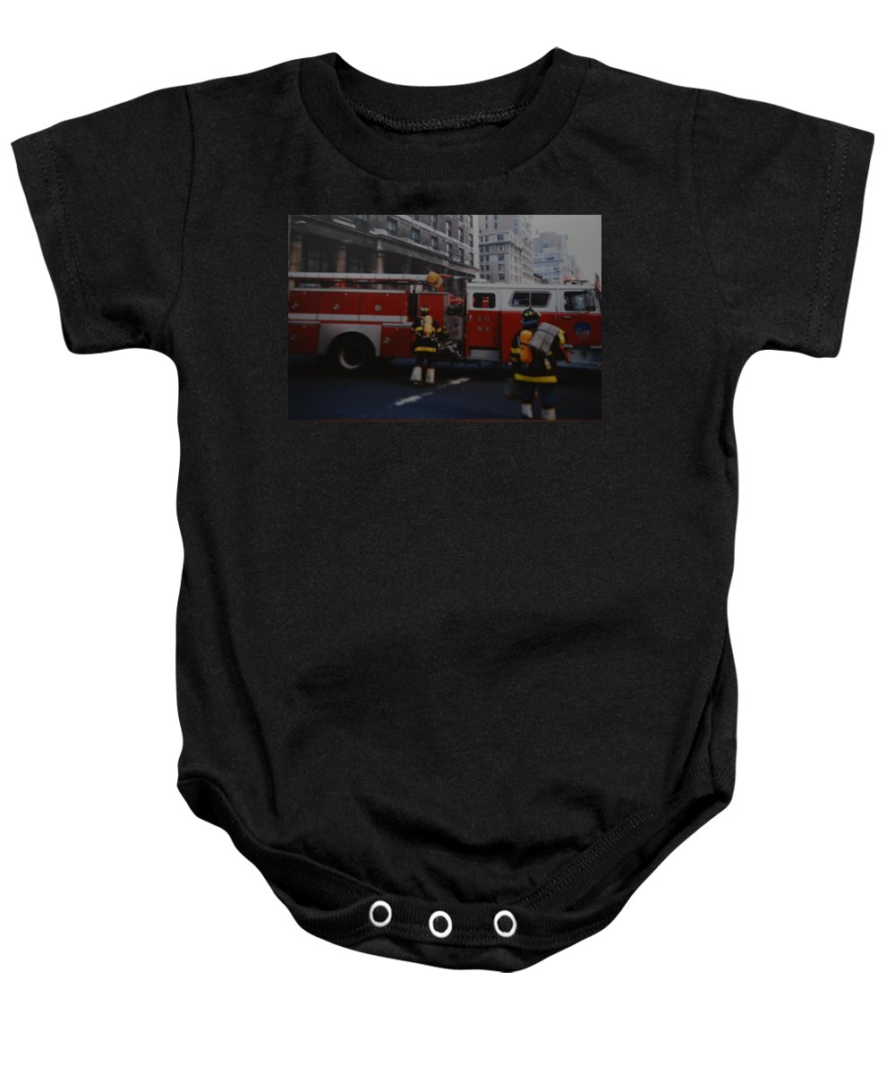 Fdny Baby Onesie featuring the photograph Bravest Of The Brave by Rob Hans