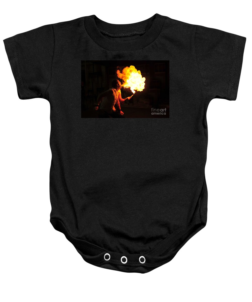 Fire Baby Onesie featuring the photograph Breath Of Fire by David Lee Thompson