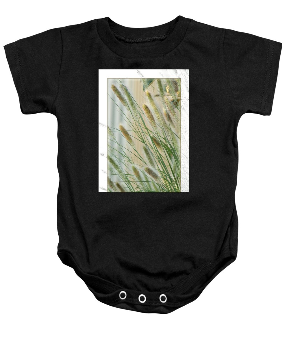 Floral Baby Onesie featuring the photograph Breeze by Holly Kempe