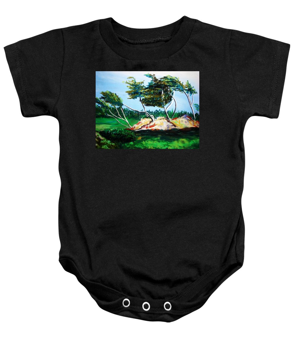 California Baby Onesie featuring the painting Breezy by Melinda Etzold