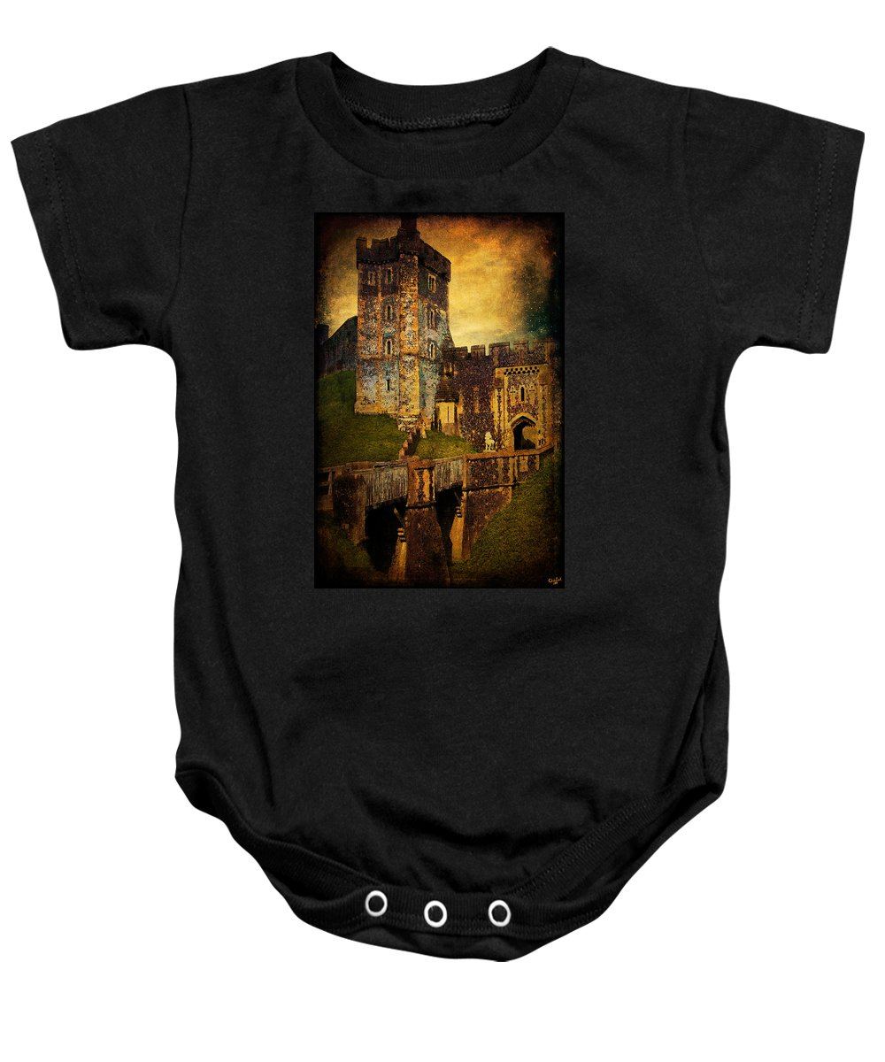 Arundel Baby Onesie featuring the photograph Bridge And Portal At Arundel by Chris Lord