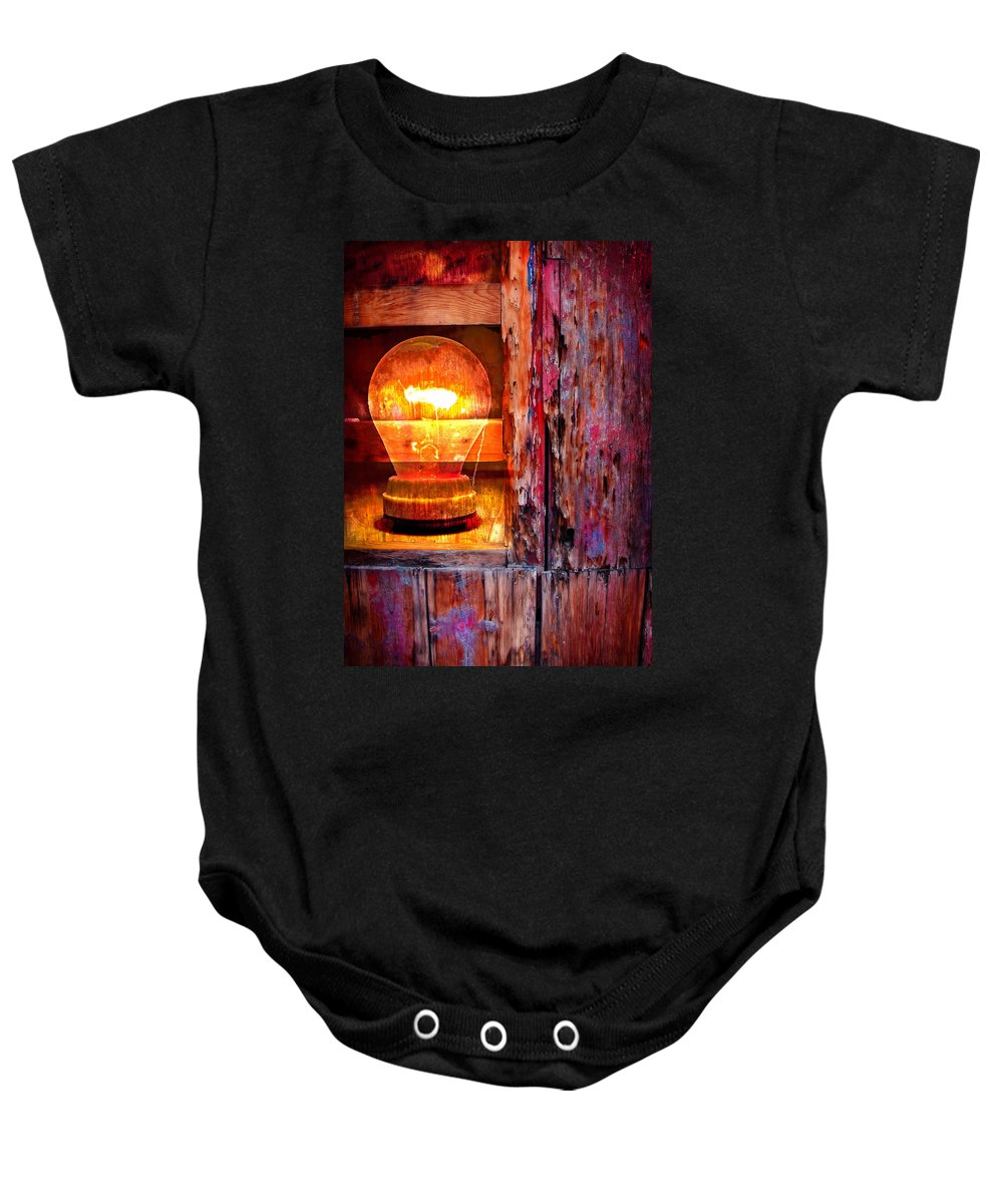 Skip Baby Onesie featuring the photograph Bright Idea by Skip Hunt