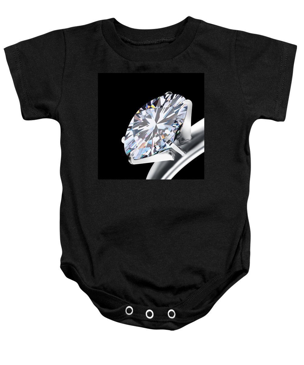 Background Baby Onesie featuring the photograph Brilliant Cut Diamond by Setsiri Silapasuwanchai