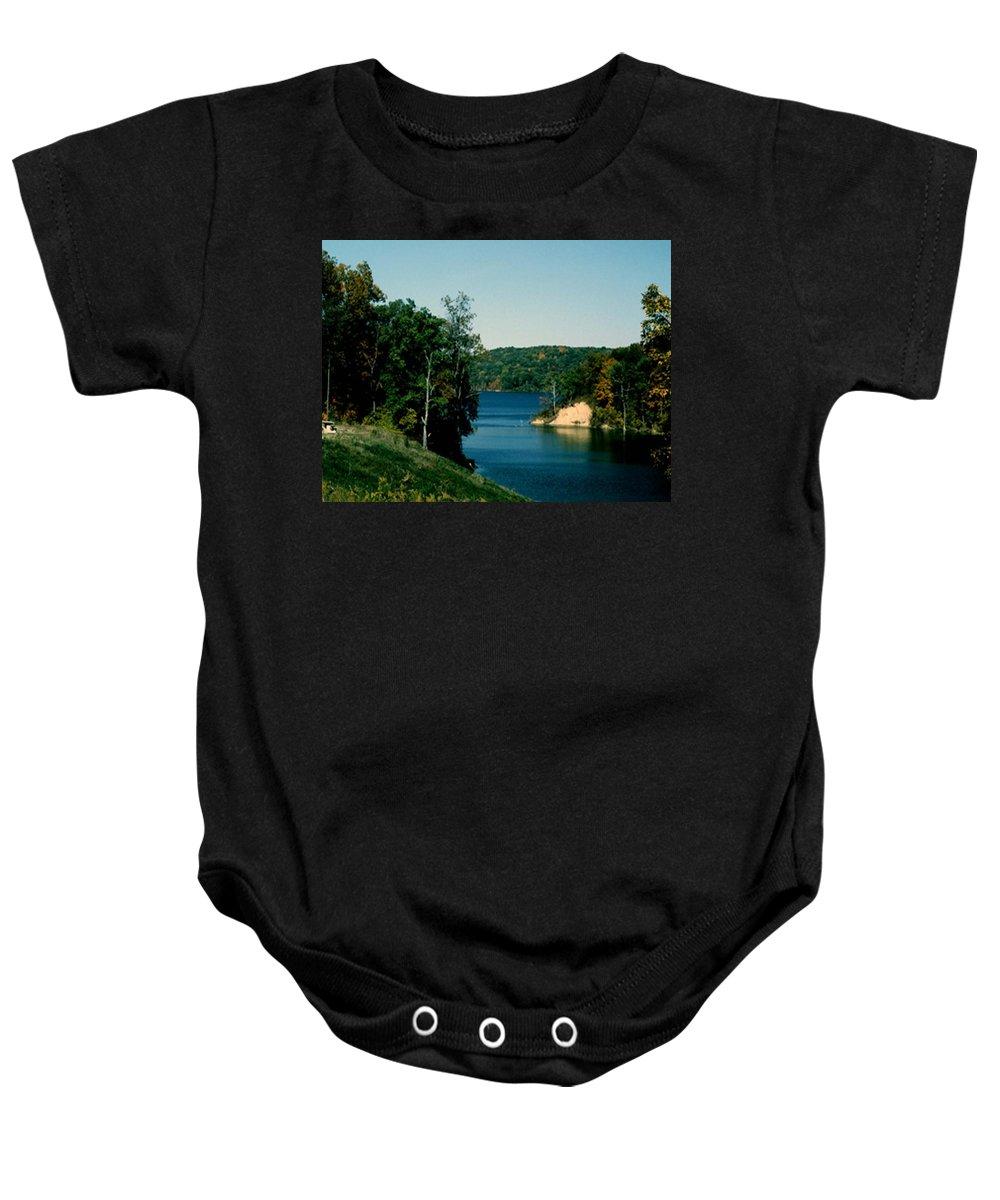 Brookville Indiana Baby Onesie featuring the photograph Brookville Lake Brookville Indiana by Gary Wonning