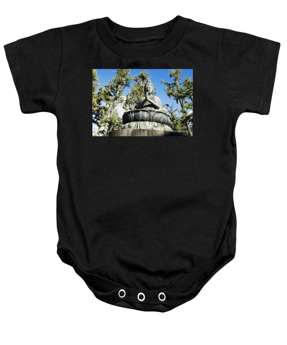 Ancient Baby Onesie featuring the photograph Buddha Statue by Bill Brennan - Printscapes