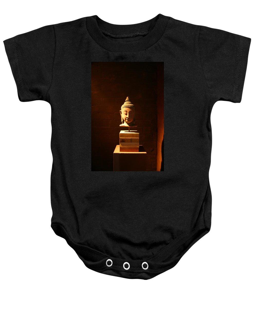 Buddhism Baby Onesie featuring the photograph Buddhism In Belgium by Minaz Jantz