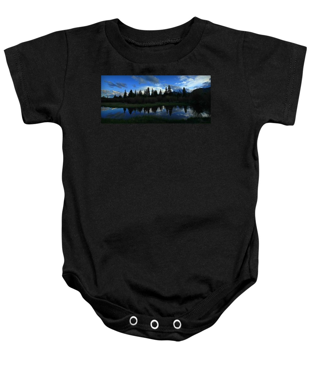 Buffalo Mountain Baby Onesie featuring the photograph Buffalo Mountain At Sunset by Danielle Marie