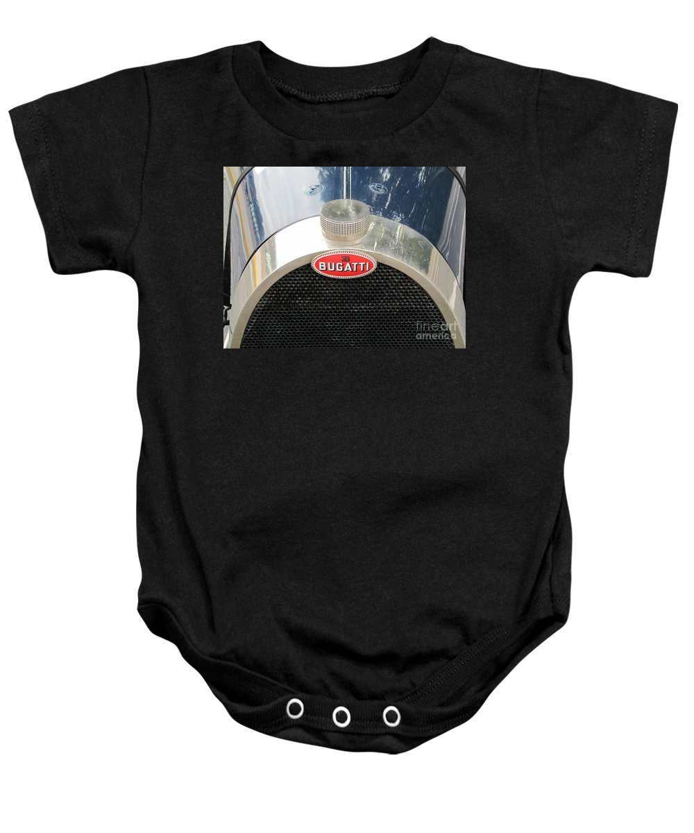 Bugatti Baby Onesie featuring the photograph Bugatti by Neil Zimmerman