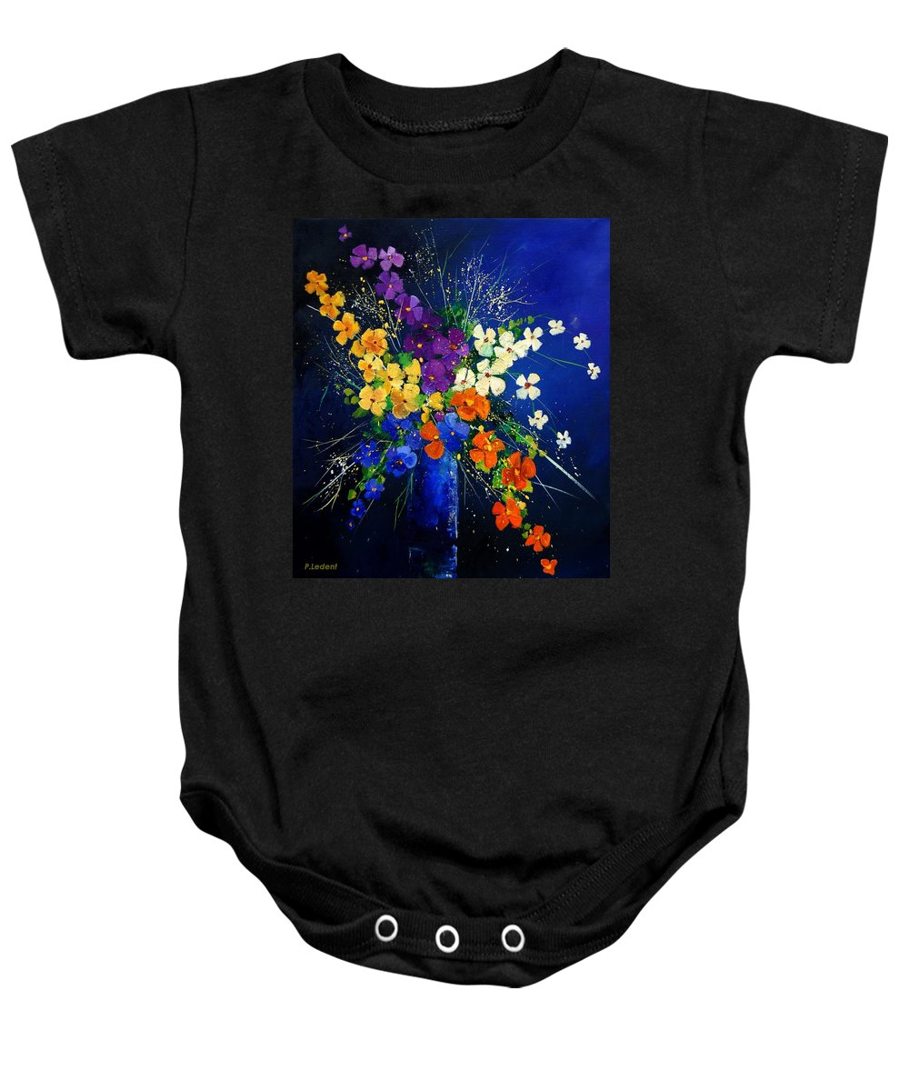 Poppies Baby Onesie featuring the print Bunch 0408 by Pol Ledent