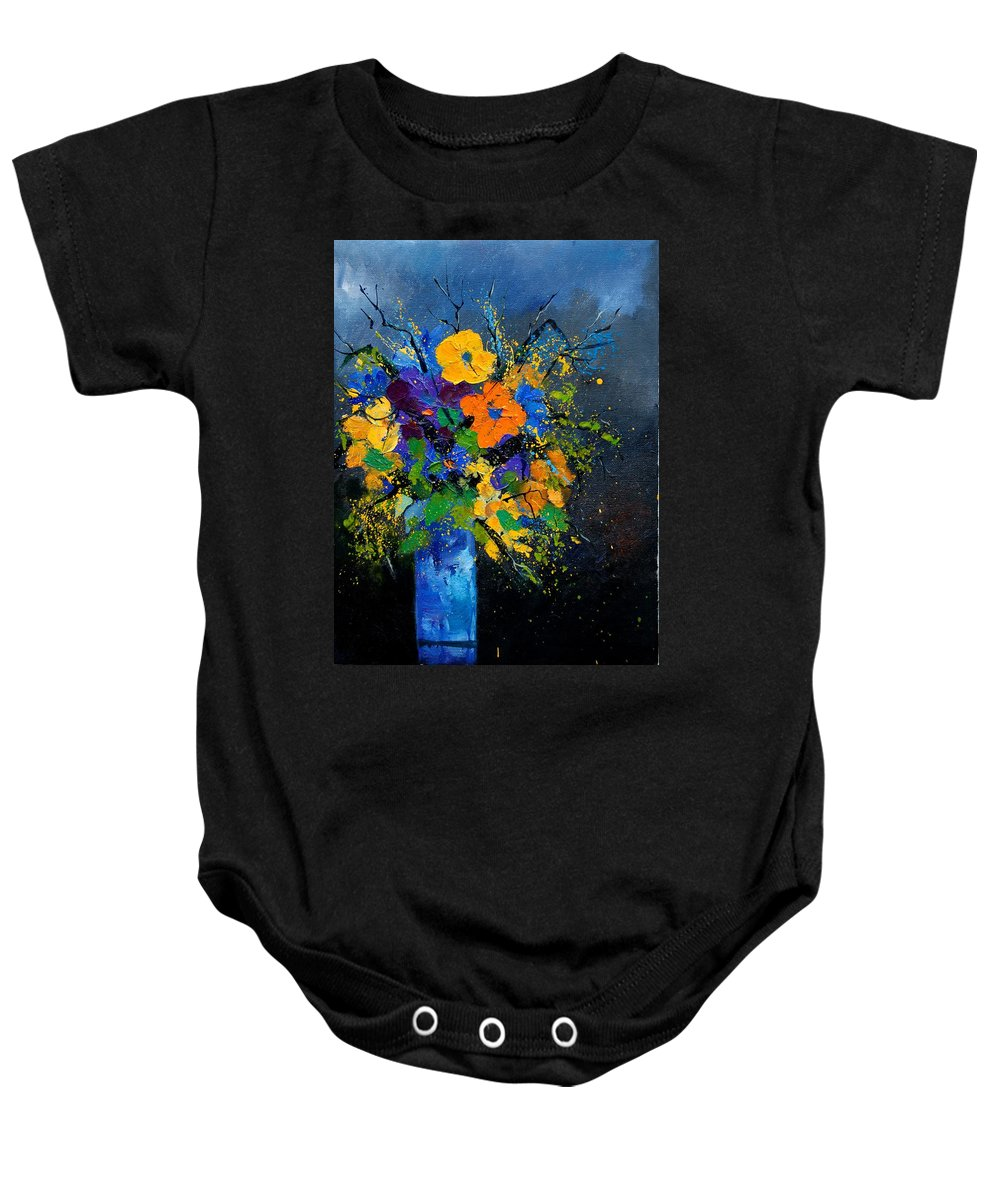 Poppies Baby Onesie featuring the painting Bunch 1007 by Pol Ledent