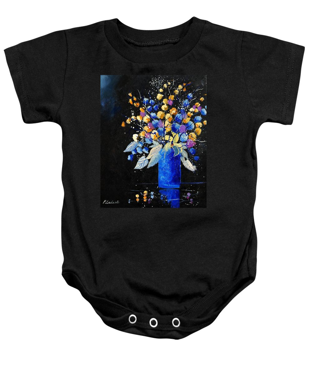 Flowers Baby Onesie featuring the painting Bunch 451008 by Pol Ledent