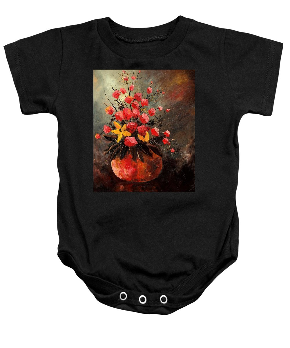 Flowers Baby Onesie featuring the painting Bunch 569060 by Pol Ledent
