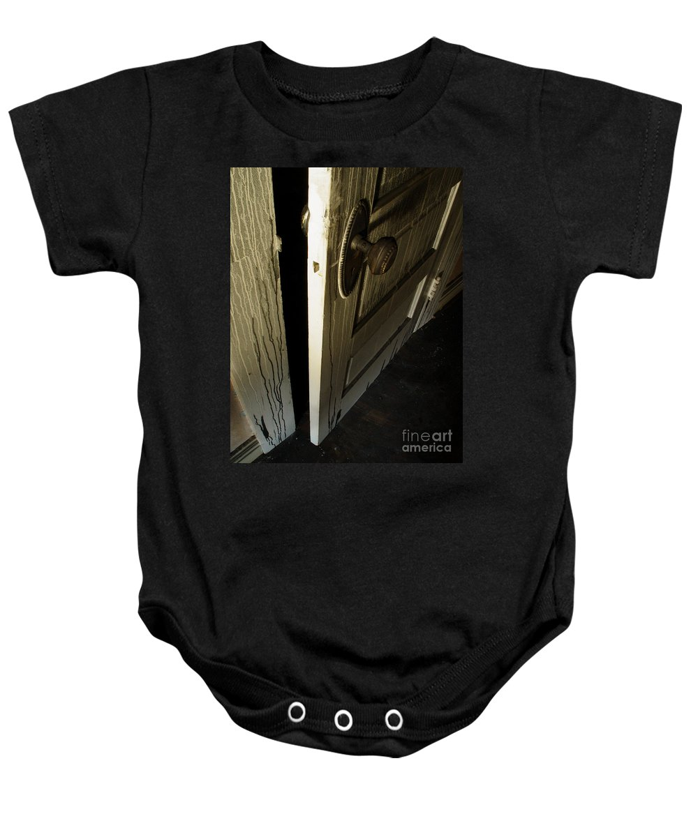Ghostly Baby Onesie featuring the photograph Burned Knob 02 by Peter Piatt