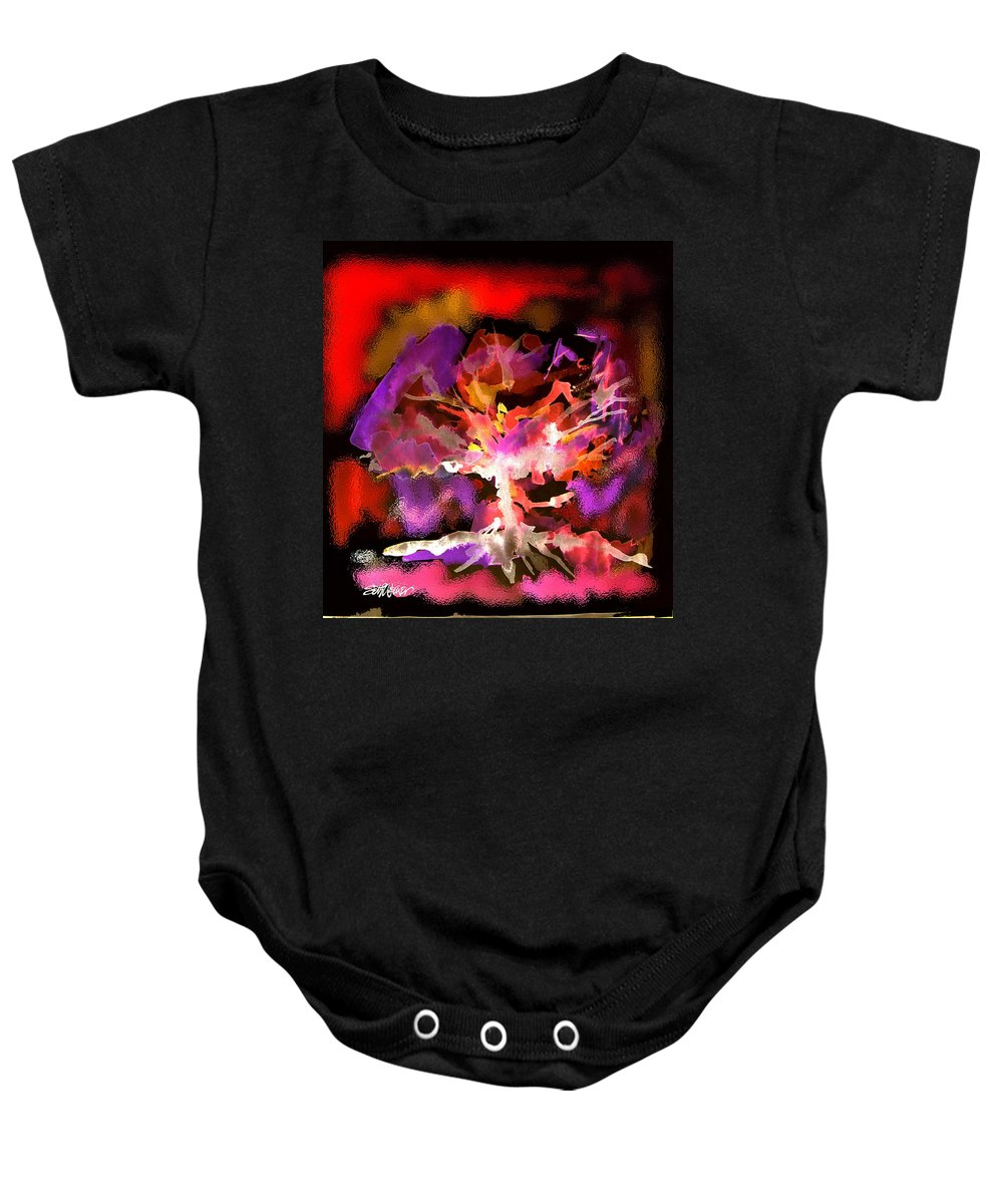 Bible Baby Onesie featuring the digital art Burning Bush by Seth Weaver