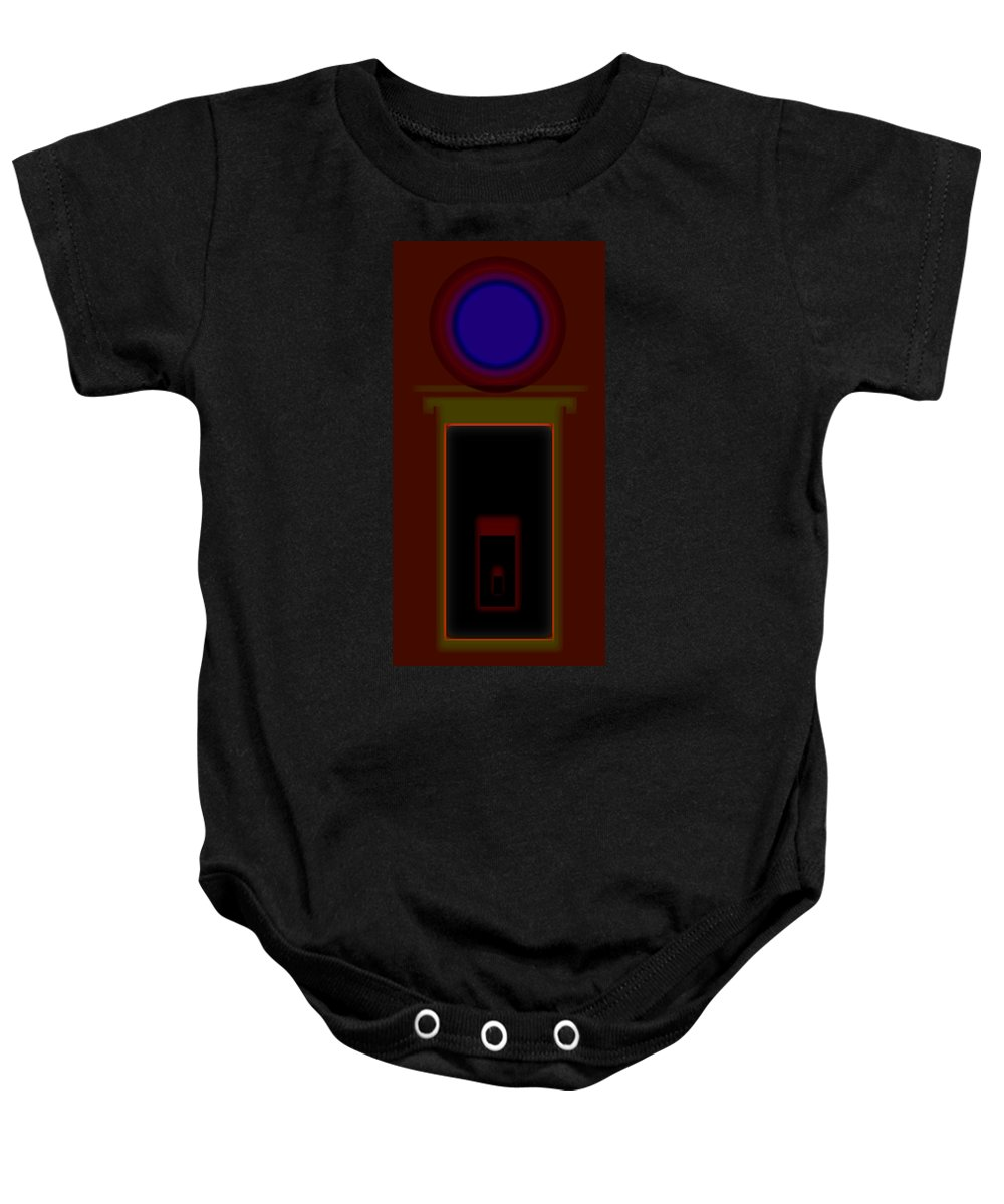 Palladian Baby Onesie featuring the painting Burnt Sienna by Charles Stuart