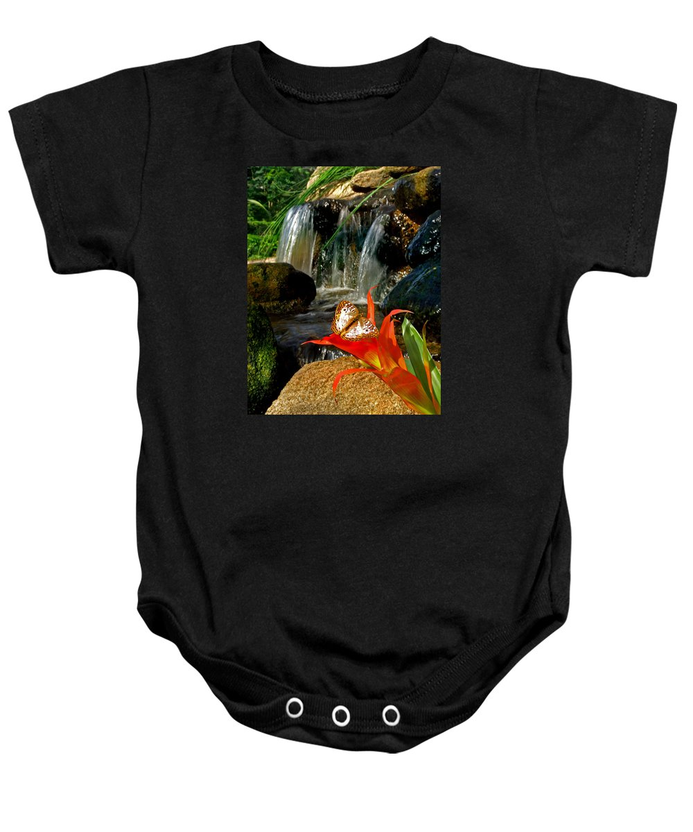 Waterfall Baby Onesie featuring the photograph Butterfly Brook by Martin Massari