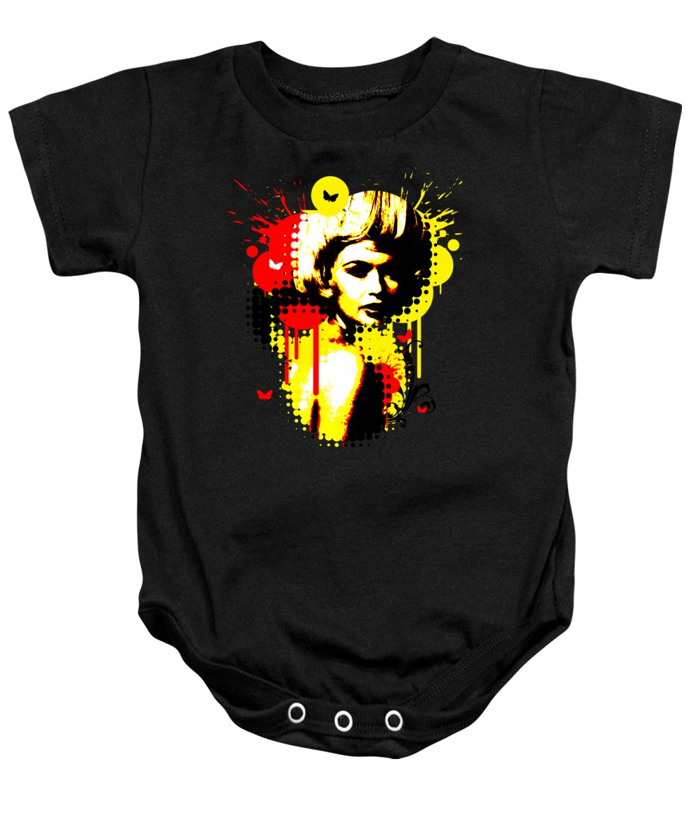 Nostalgic Seduction Baby Onesie featuring the photograph Butterfly Headcase by Chris Andruskiewicz