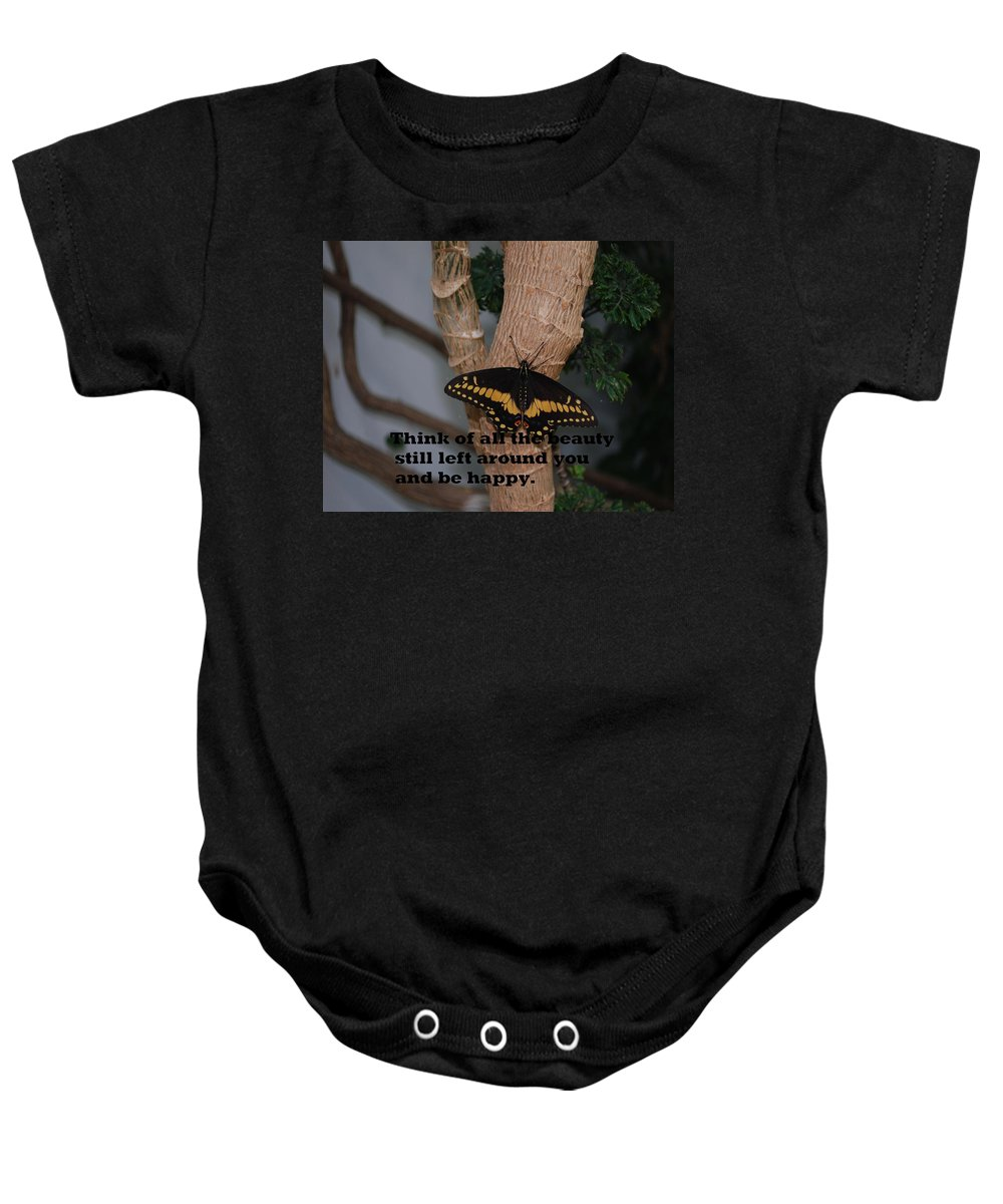 Butterfly Baby Onesie featuring the photograph Butterfly Thing Of Beauty by Gary Wonning