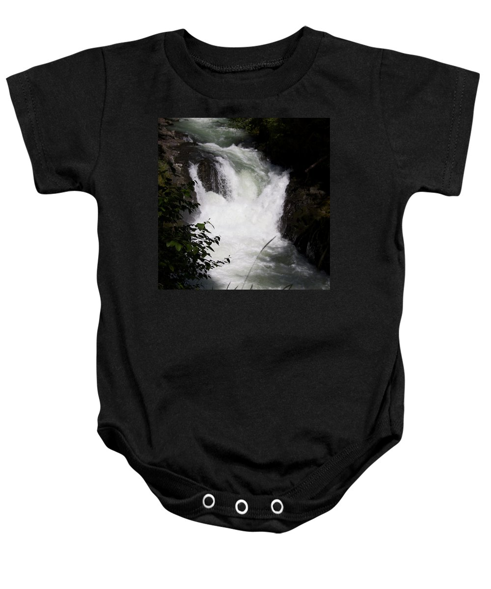 Columbia Gorge Baby Onesie featuring the photograph Bz Falls 1 by Ingrid Smith-Johnsen
