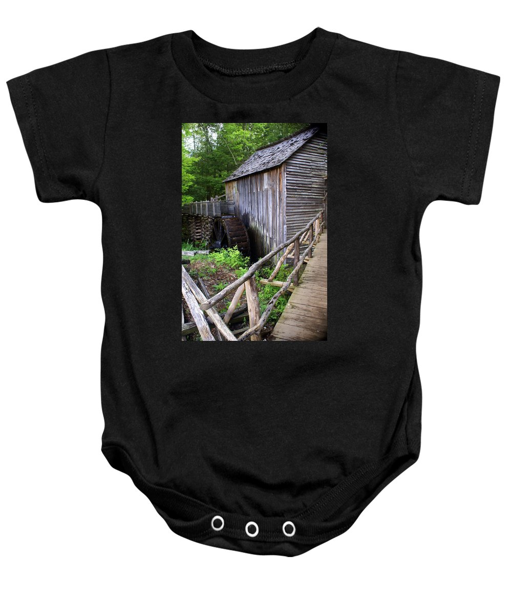 Cable Mill Baby Onesie featuring the photograph Cable Mill 3 by Marty Koch