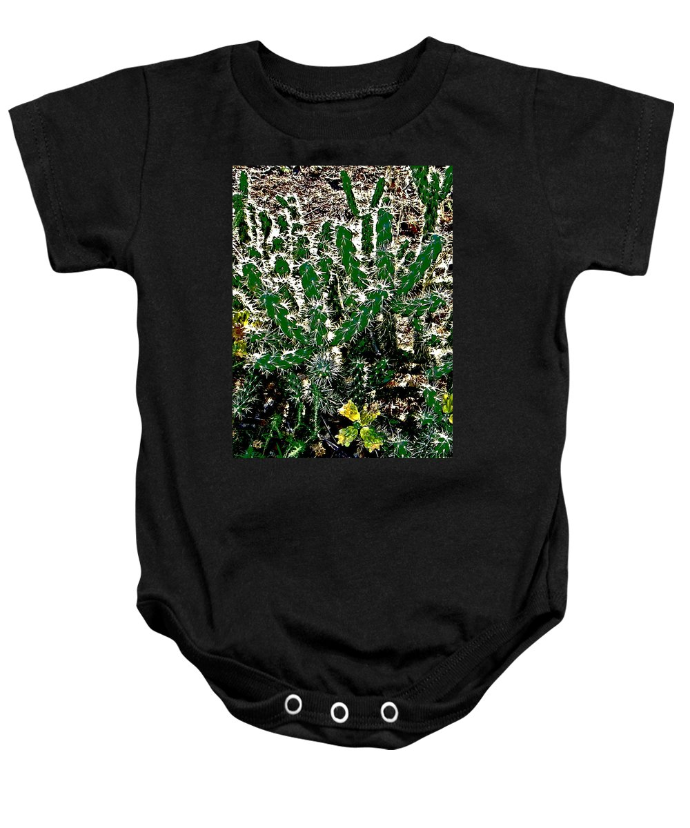 Abstract Baby Onesie featuring the photograph Cacti by Lenore Senior